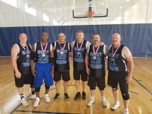 Basketball 35+ Bronze Medal winners 2018
