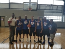 Basketball 35+ Silver Medal winners 2018
