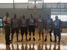 Basketball Men's Open Silver Medal winners 2018