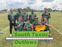SOuth Texas Outlaws 2021 Flag Football Champs