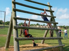2021 Obstacle Course Reverse wall climb Harlingen